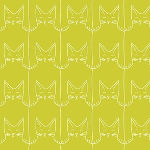 kitties (green background)