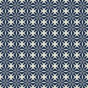 Tiny Maltese Crosses in White Over Dark Blue