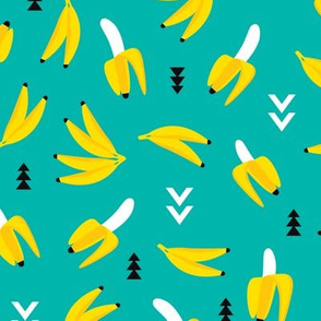 Colorful banana geometric arrows illustration kids print