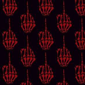 red-skeletal-middle-finger-dragonbone-designs