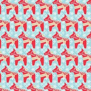 Swedish Holiday Dala Horse Pattern