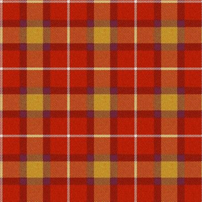 Red purple gold plaid REV
