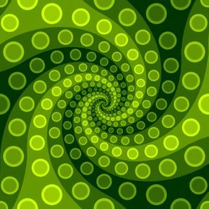 tentacle sucker spiral 3 : chartreuse