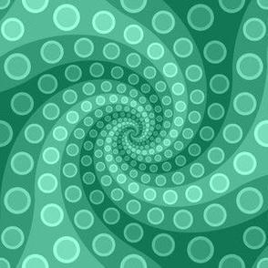 tentacle sucker spiral 3 : jade green