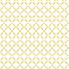 Yellow X Pattern