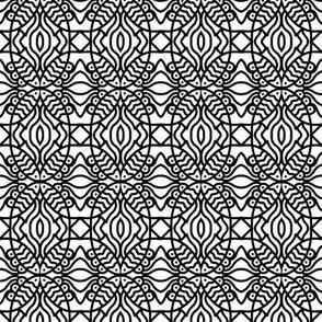 Fish Circles Black White