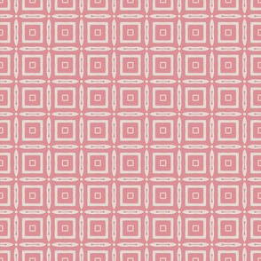 Small White Squares Over Pink