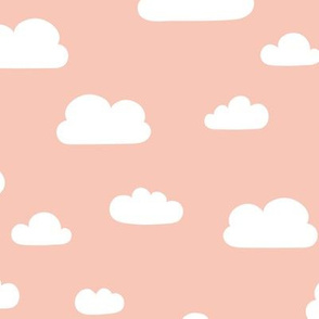 Clouds - Coral background