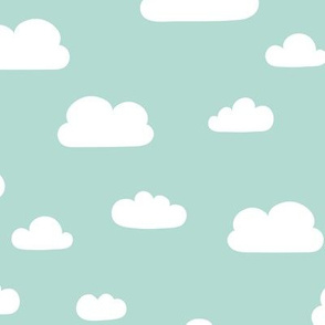 Clouds - Mint background