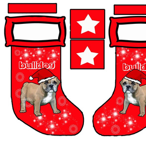 Bulldog Cut and sew stocking
