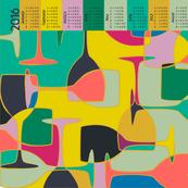 Bright Glass (2016 Calendar Tea Towel)