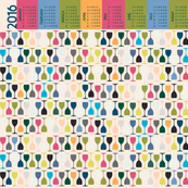 Multi Glasses Light (2016 Calendar Tea Towel)