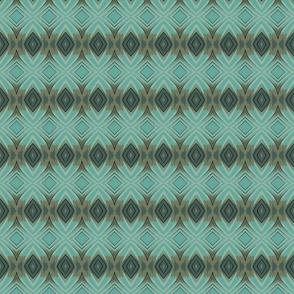 Diamond Stripe in Grays and Blues