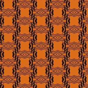 Modern Tribal in Black Over Orange