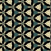 Geometric Triangle in Greens and Black