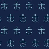 Anchors - Turquoise Indigo