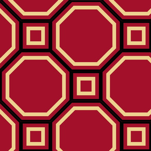 Evil Octagon Geometric Pattern