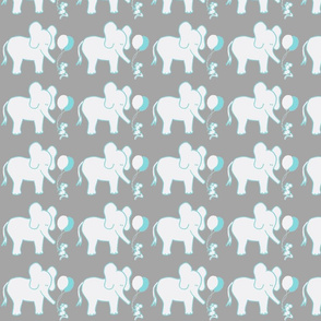 LARGE SCALE Lets Be Friends in Gray and Aqua
