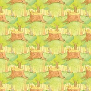 Silly Stump Fabric