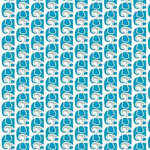 SMALL Elephant Love Aqua Gray