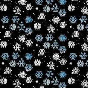 Night Sky Snowflakes 2