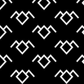 Twin Peaks Owl Petroglyph in Black Lodge/White Lodge