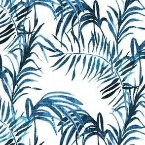 Tropical Palm (indigo linen)