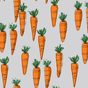 Bunch of Carrots on grey