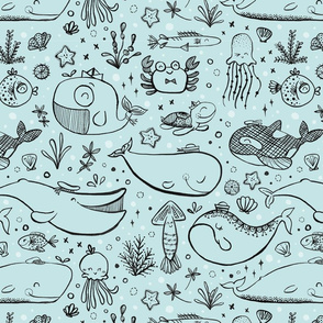 spoonflower-seacritters-teal
