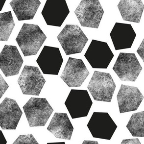 Abstract Hexagons  on white