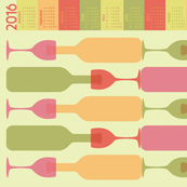 Fruity Drinks (2016 Calendar Tea Towel)