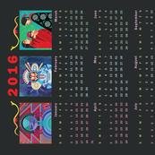 Southwestern 2016 Calendar Tea Towel
