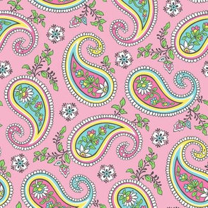 Sweet Paisley on Pink