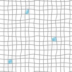 Grey Tiles & Blue - Carreaux Gris & Bleu