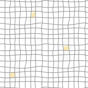 Grey Tiles & Yellow - Carreaux Gris & Jaune
