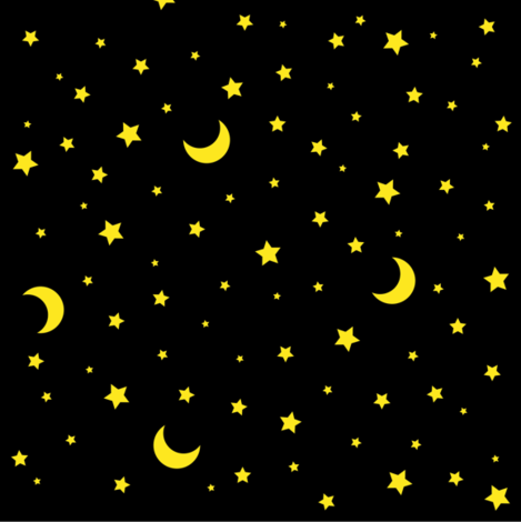 Moon and stars celestial black fabric magic circle for Moon and stars fabric