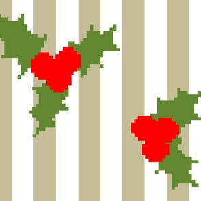 Jolly Holly Pixelated
