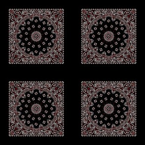 Minidanna A-Black, Cherry Red, White
