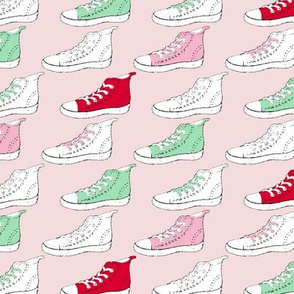 High Tops on Pink