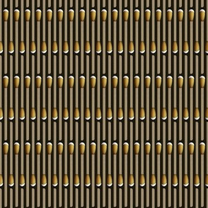 matchstick stripe gold