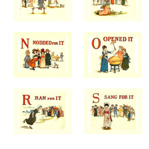 Kate Greenaway 'A is for Apple' quilt blocks