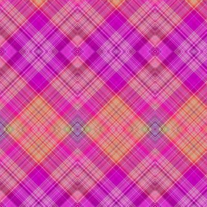 FRUIT SALADE HARMONY DIAGONAL PLAID TARTAN 5