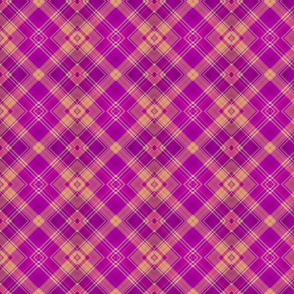 FRUIT SALADE HARMONY DIAGONAL PLAID TARTAN 2