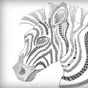 Zebra zen B/W