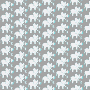 SMALL SCALE Lets Be Friends in Gray and Aqua