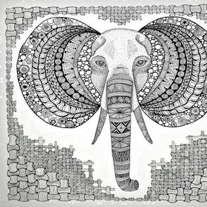 Elephant zen B/W