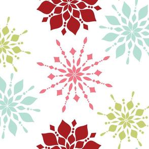 Elegant Snowflakes Modern