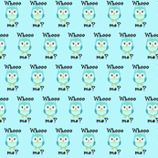 Whoo Me? Blue Owls