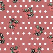 Strawberry Polka Dots Swirl