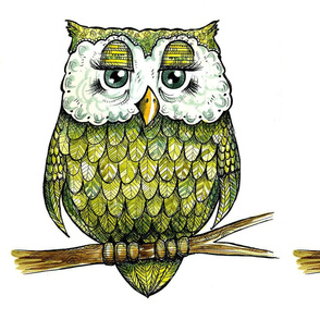 One Green Owl